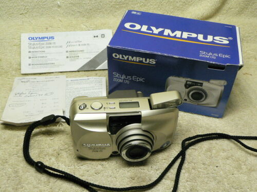 Olympus Stylus Epic Zoom 170 35mm Point & Shoot FILM Compact Camera. Tested