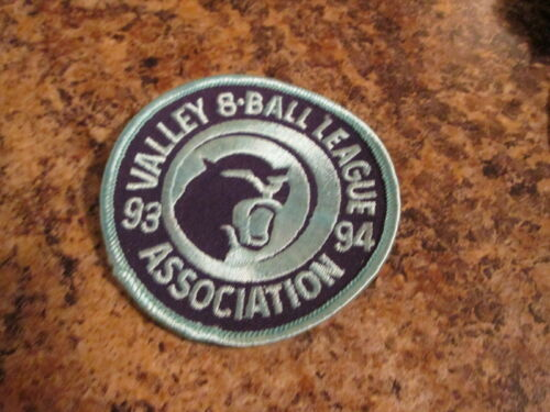 VNEA Valley National 8 Ball Pool League Sanction Patch NEW 1993-1994