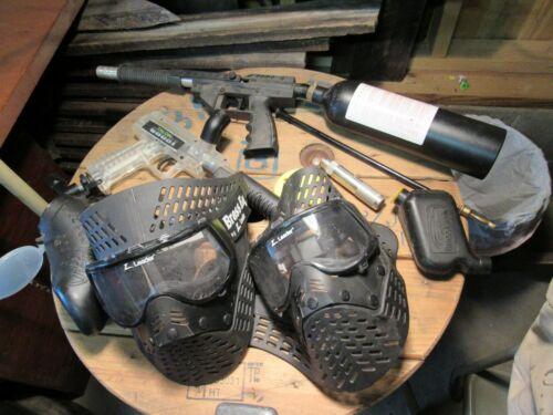 Vintage Paintball Gun & Accessory Lot.
