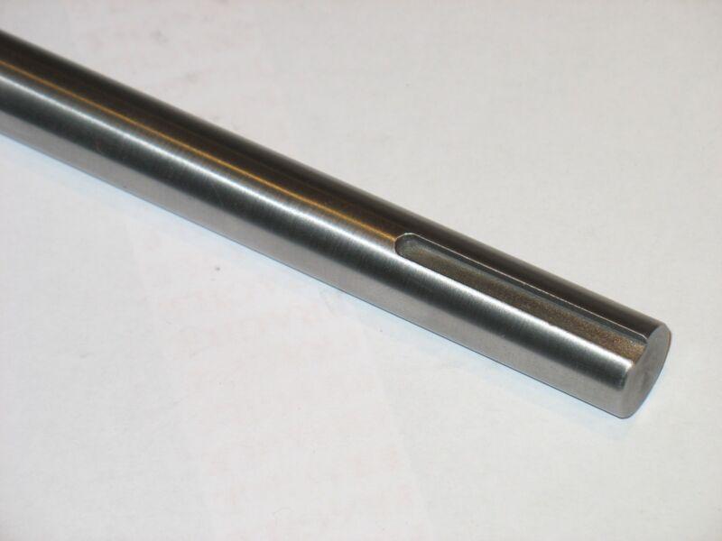 "1""  Steel Shaft / Rod / Bar  Keyed 1/4""  one end  12"" Long  CRS"