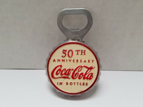 Coke 50th Anniversary Bottle Cap Shaped Opener