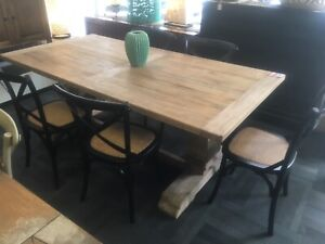 Recycled elm table   6 chairs package Manly Vale Manly Area Preview