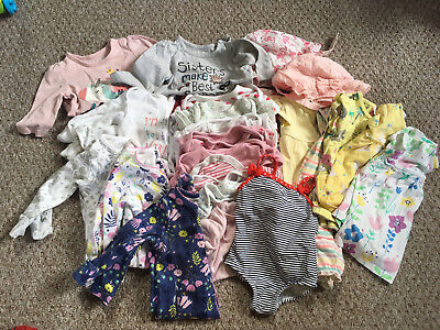 Large Bundle Baby Girl Clothes 0-3 Months
