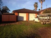 STORAGE 400m2 yard large double garage carport shed at Glenfield Douglas Park Wollondilly Area Preview