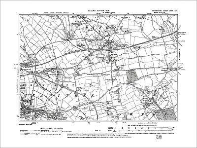 Exeter Heavitree, Pinhoe, Sowton, Whipton, Old Map Devon 1906: 80NE