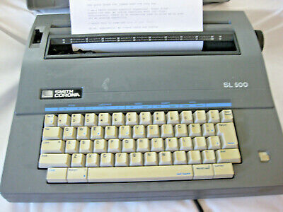 Smith Corona Typewriter Model Sl500 With Case Tested And Working