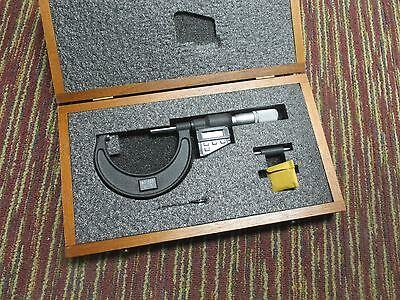 New Starrett 733xflz-3 2-3 Electronic Spc Outside Micrometer Wwooden Case