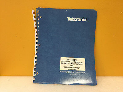 Tektronix 070-4631-00 2445 2465 Counter Timer Trigger Instruction Manual