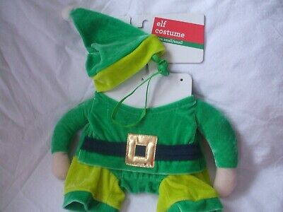 Elf From Santa Claus (PET SHOP X-Small/Small,Toy Dog Christmas Outfit, Chose from Santa Claus or)