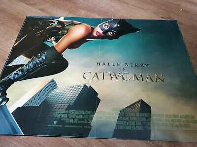 SHARON STONE HALLE BERRY 2004 Orig D//S 27x40 ADVANCE Movie Poster CATWOMAN