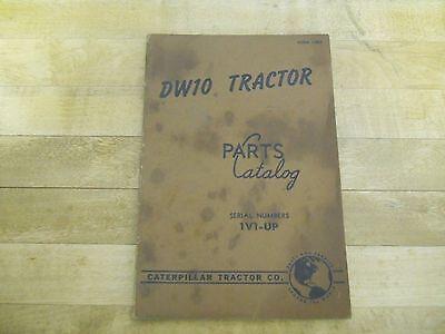 Caterpillar Dw10 Tractor Parts Catalog