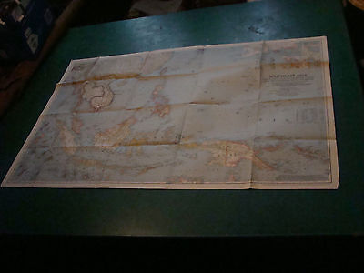 """Original NATIONAL GEOGRAPHIC MAP:  1944 SOUTHEAST ASIA aprox 26 1/2 x 41"""""""