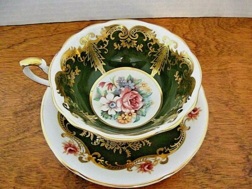 PARAGON KINGSTON BONE CHINA TEACUP & SAUCER~ FLORAL