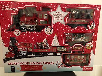 "Disney's Mickey Mouse ""Holiday Express"" 36pc Christmas train set. Beautiful set."
