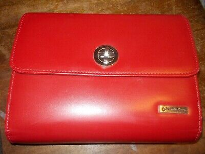 Franklin Covey Planner Binder Organizer Red 6-ring Euc