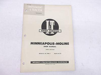 Minneapolis Moline Gb-ub-zb Series Shop Service Manual