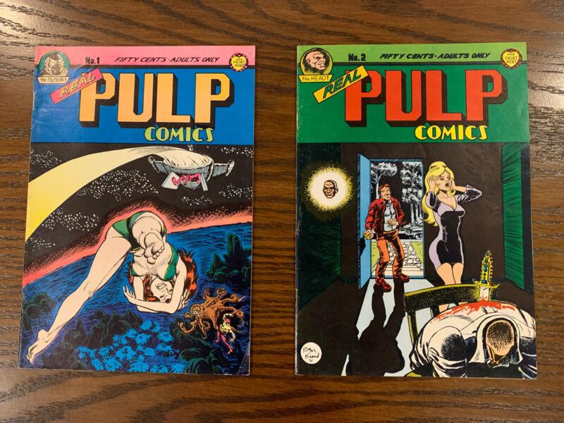 Real Pulp Comics, #1 and #2