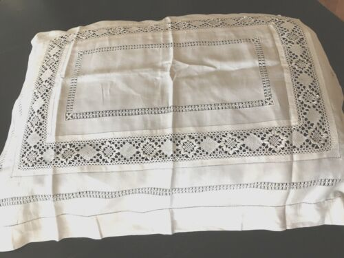 """Early 1900""""s Hnd Md LARGE ITALIAN DECORATIVE PILLOW SHAM~BEAUTIFUL Condition"""
