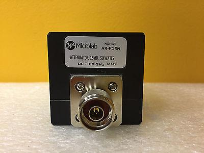Microlab Fxr Ar-r15n Dc To 3.0 Ghz 15 Db Type N M-f Coaxial Attenuator New
