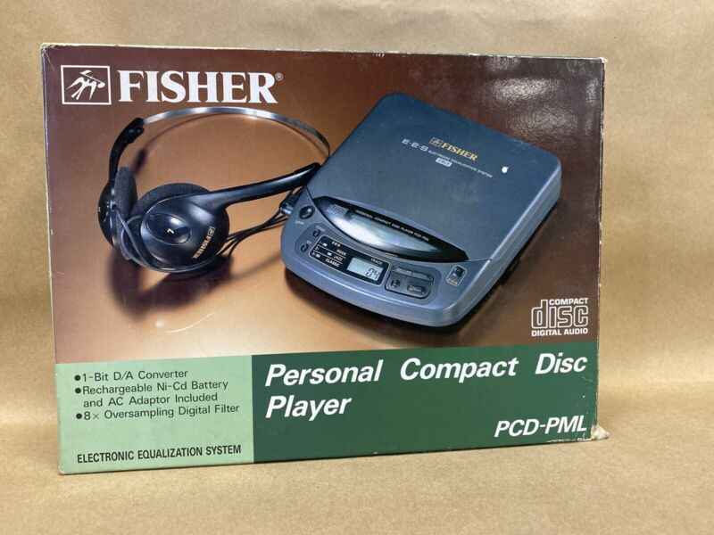 Fisher Personal CD Compact Disc Player PCD-PML W/AC Adapter-EXC COND !!!!!!