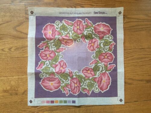 vintage needlepoint tapestry canvas #2