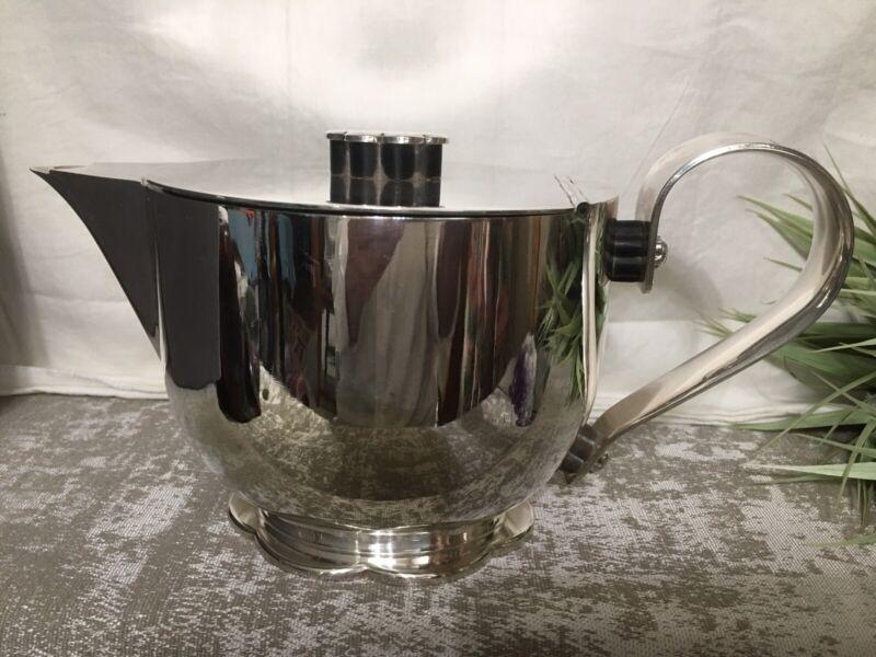 Vintage Antique  Wellner Alemania Teapot Tea Pot Art Deco Modernist MCM Modern
