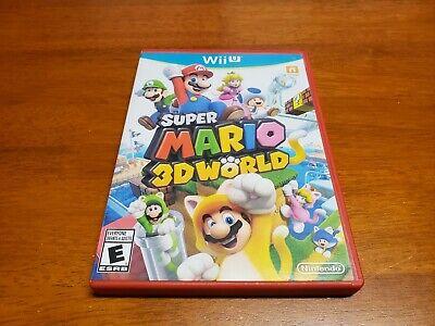 Super Mario 3D World (Nintendo Wii U, 2013) CIB Complete WiiU TESTED