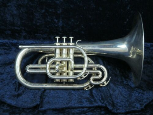 Yamaha YMP-203M Silver F Mellophone Ser#817827 Great Sound Needs Small Re-solder