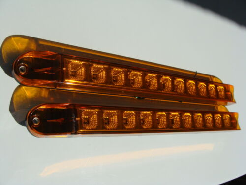 6 SIX  LED CLEAR AMBER Trailer Truck light Sealed Clearance Markers Waterproof