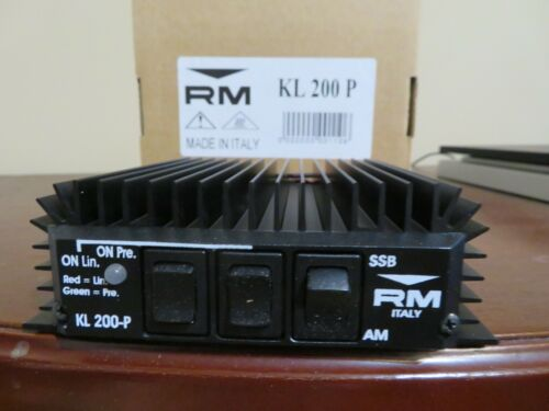 RM Italy KL 200P 25-30 MHz Linear Amplifier 125+ Output Wattage. Not Mosfet