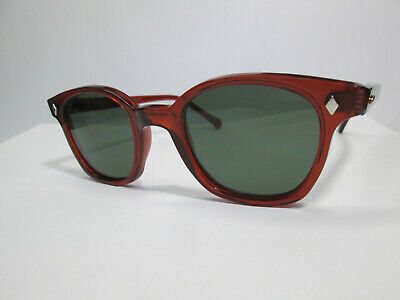 Sunglasses Vintage Style Horn Rim Hipster Movie Custom Red G 15 50 Hoya (Red Rimmed Sunglasses)