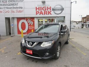 2015 Nissan Rogue SL AWD BLACK ON BLACK LEATHER ONLY 21888+HST