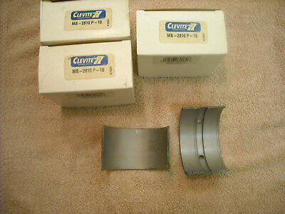 3 Sets Of Clevite Mb-2810p -10 Main Bearings For Case 188 Or 207 Engine
