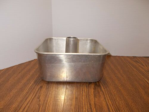 Vintage Square Angel Food Cake Pan Heavy Weight Aluminum Sears Roebuck - 9x9x4