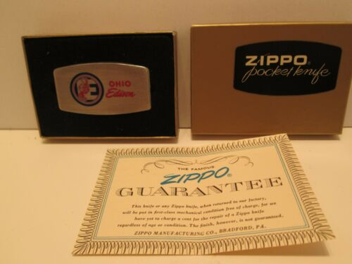 VINTAGE ZIPPO OHIO EDISON REDDY KILOWATT 2 BLADE POCKET KNIFE NEW IN BOX