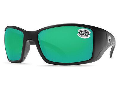 0e7ca21997 Costa Del Mar Blackfin Matte Black   Green Mirror 580 Glass 580G - NEW