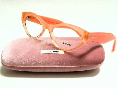 Authentic MIU MIU MU03MV QFI/1O1 Orange Gradient Glitter 52mm Women (Miu Miu Eyeglass)