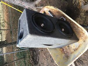 Dual 12' subwoofer box includes subs (not working)
