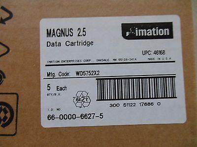 5 pack BRAND NEW sealed Imation Magnus 2.5  data tape cartridges DC9250 p/n46168