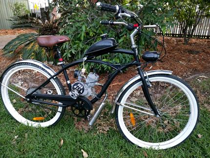 Motorised beach cruiser bike