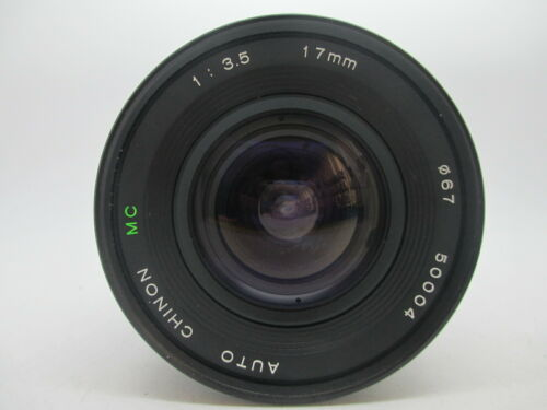 Exc+++ Chinon 17mm f/3.5 f 3.5 Lens for Pentax PK Mount *50004
