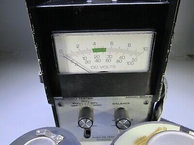Pyrotronics Model Scu-9 Sensitivity Tester High Voltage Smoke Test Set Kit