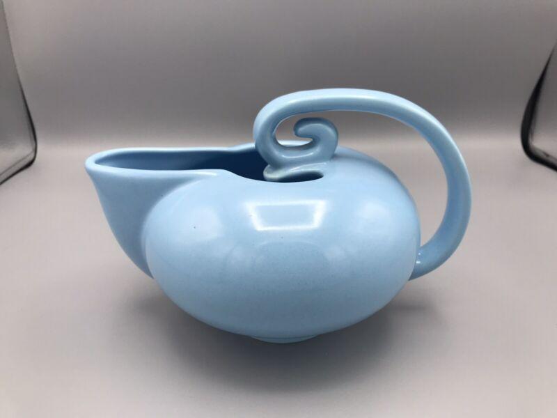 """Vintage Camark Genie Art Pottery Pitcher """"USA 791"""" Light Blue"""