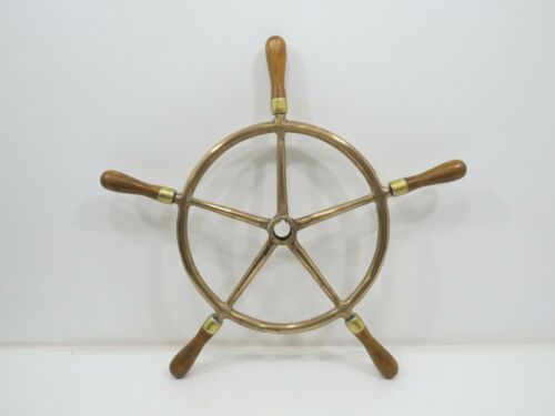 22+1/2 inch Bronze And Wood Ship Wheel (R6-832)