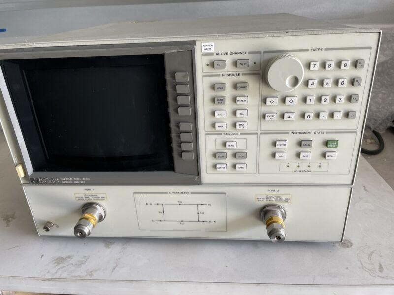 Hewlett Packard 8720C 50 MHz-20 GHz Network Analyzer OPT 006