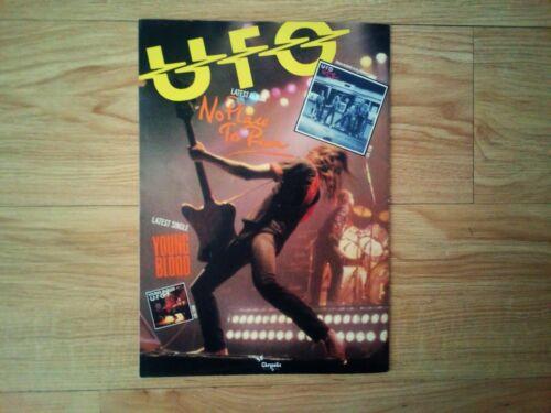 Vintage UFO No Place To Run Concert Tour Book / Michael Schenker + Ticket ! 1980