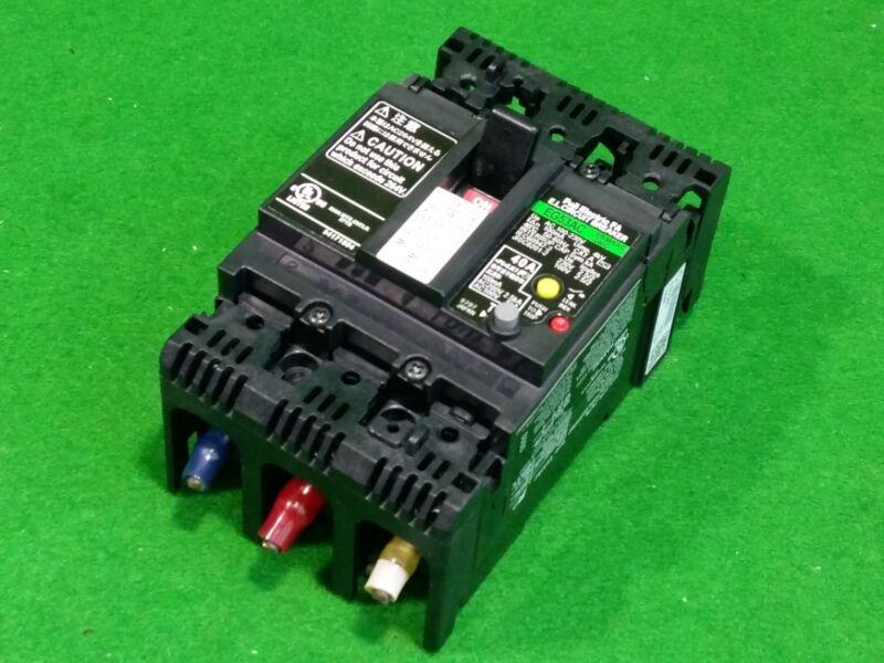 FUJI ELECTRIC EG53AC 40A AC 230V Auto Breaker, USED