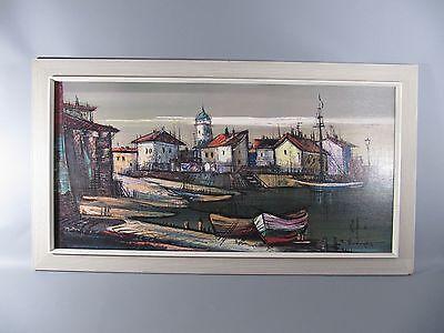 dekorativer 60s Öldruck Gemälde Titel: Martiques Künstler: R. Trimpert
