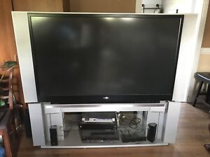 "Toshiba television 62"" screen Rear Projection HDMI Input"