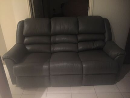 Moran Leather 3 Seater Sofa